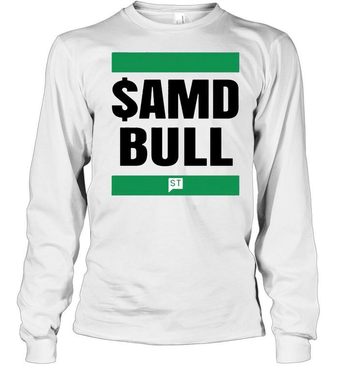 $AMD bull shirt Long Sleeved T-shirt
