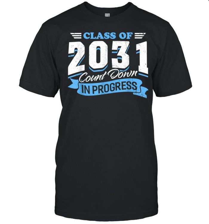 Class Of 2031 Count Down In Progress 3rd Grader Back School shirt Classic Men's T-shirt