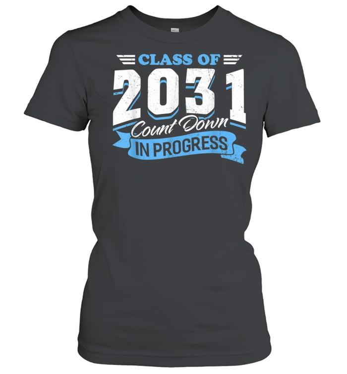 Class Of 2031 Count Down In Progress 3rd Grader Back School shirt Classic Women's T-shirt