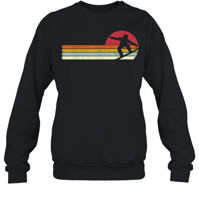 Sunset Snowboarder Snow Boarding Snowboarders shirt Unisex Sweatshirt