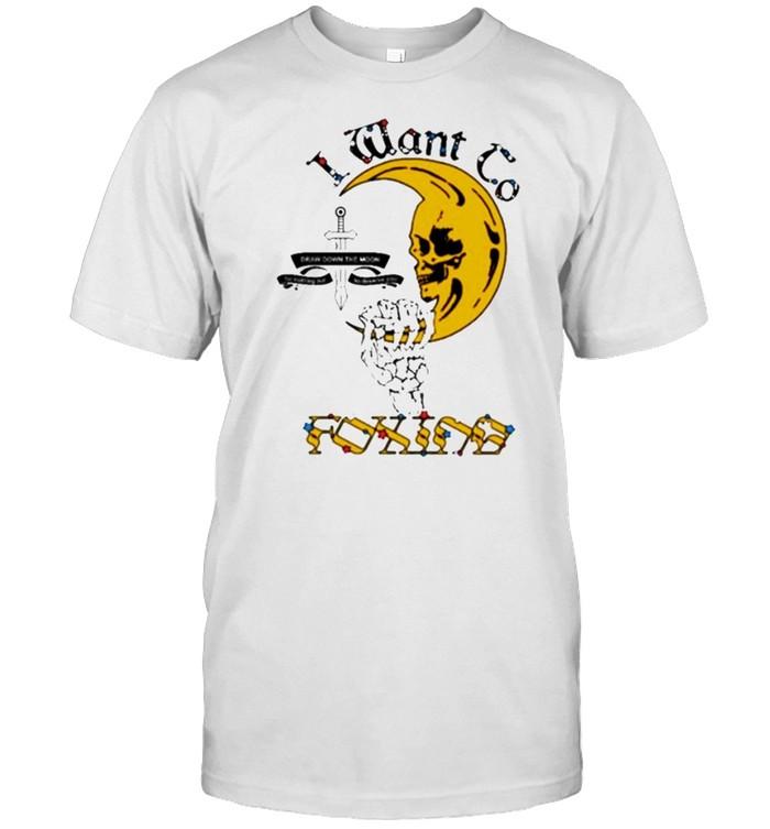 I want to foxing moon shirt Classic Men's T-shirt