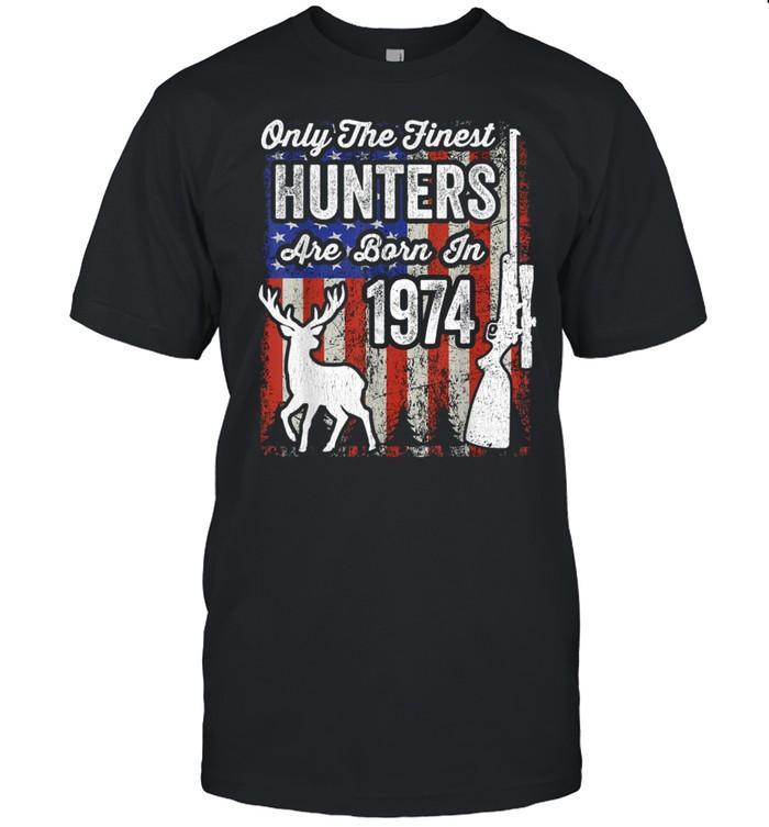 Mens 47 Year Old Birthday Hunter Deer Hunter 1974 Birthday shirt Classic Men's T-shirt