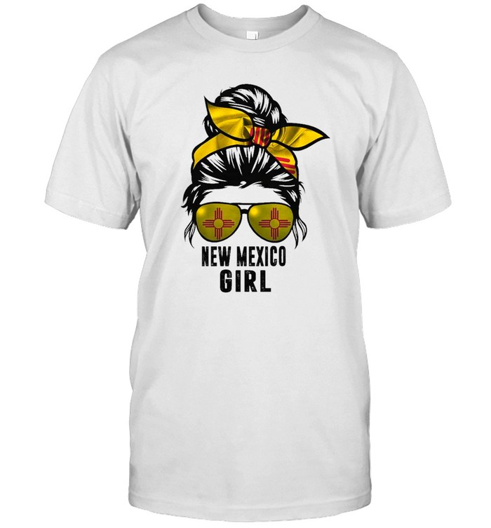 Messy Bun Life Hair Glasses NEW MEXICO Girl shirt Classic Men's T-shirt