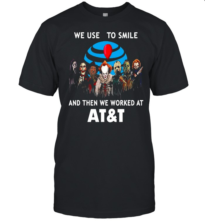 Halloween Horror Movie Chibi Character We Used To Smile And Then We Worked At AT&T T-shirt Classic Men's T-shirt