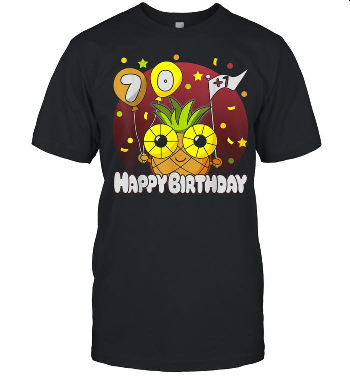 Happy Birthday 71 Hawaiian Pineapple shirt Classic Men's T-shirt