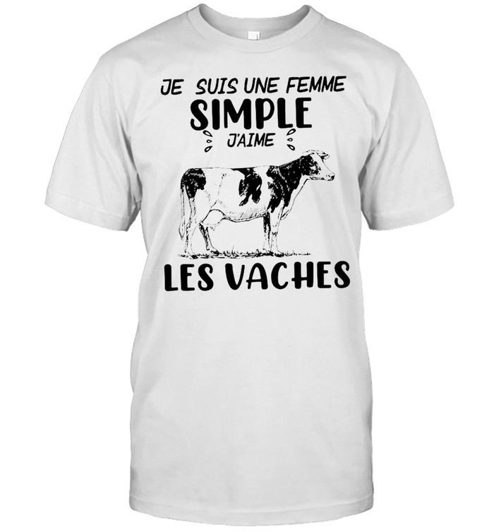 Cow je suis une femme simple j'aime les vaches shirt Classic Men's T-shirt