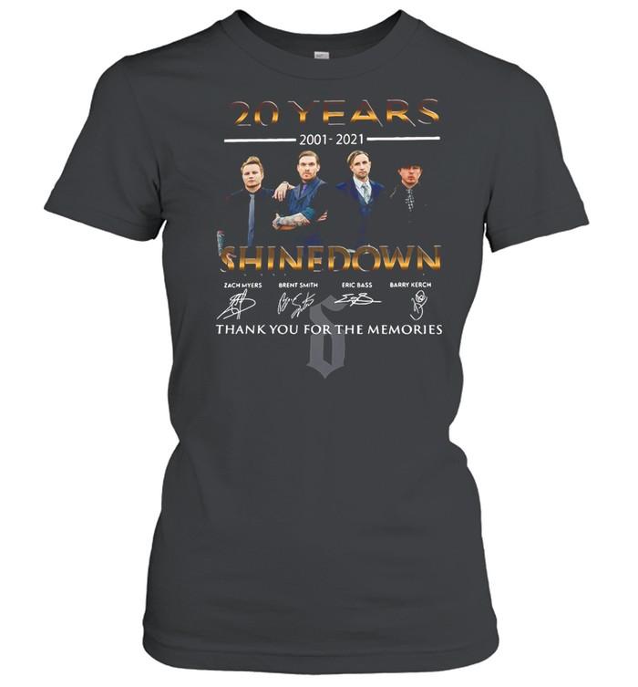 20 Years 2001 2021 Shinedown Signature Thank You For The Memories T-shirt Classic Women's T-shirt