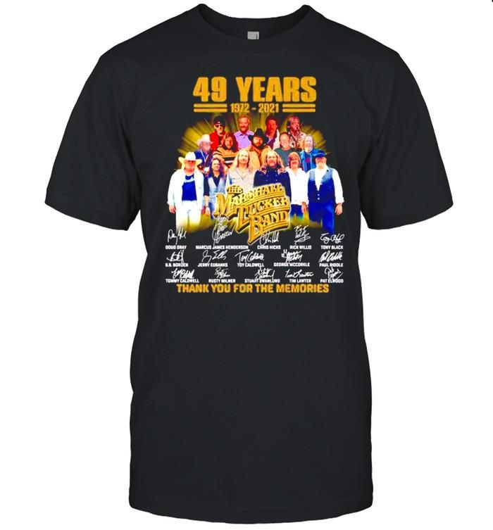 49 years 1972-2021 The Marshall Tucker Band signatures shirt Classic Men's T-shirt