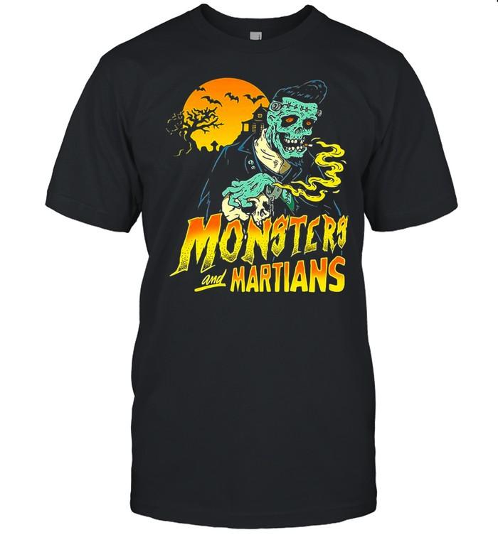 Horror Psychobilly Punk Monsters And Martians T-shirt Classic Men's T-shirt