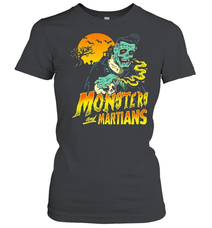 Horror Psychobilly Punk Monsters And Martians T-shirt Classic Women's T-shirt