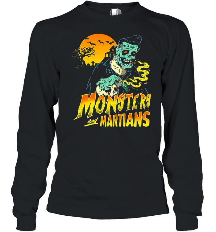 Horror Psychobilly Punk Monsters And Martians T-shirt Long Sleeved T-shirt