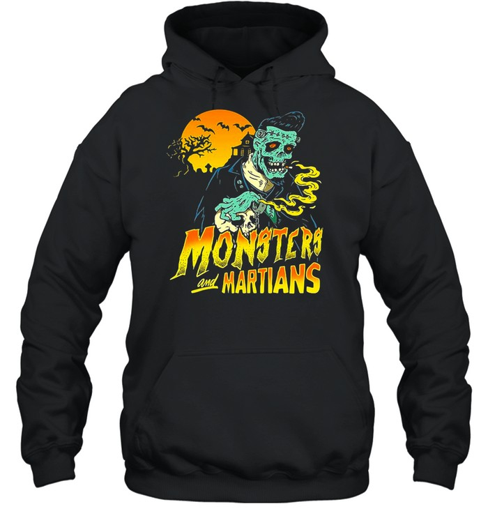 Horror Psychobilly Punk Monsters And Martians T-shirt Unisex Hoodie