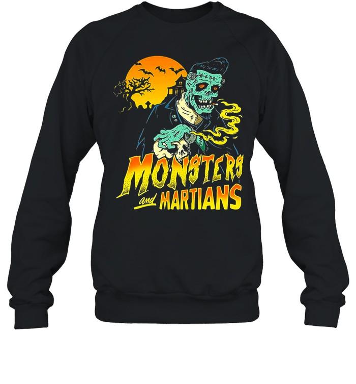Horror Psychobilly Punk Monsters And Martians T-shirt Unisex Sweatshirt