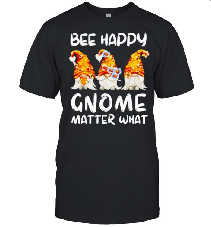 Bee happy Gnome matter what shirt Classic Men's T-shirt