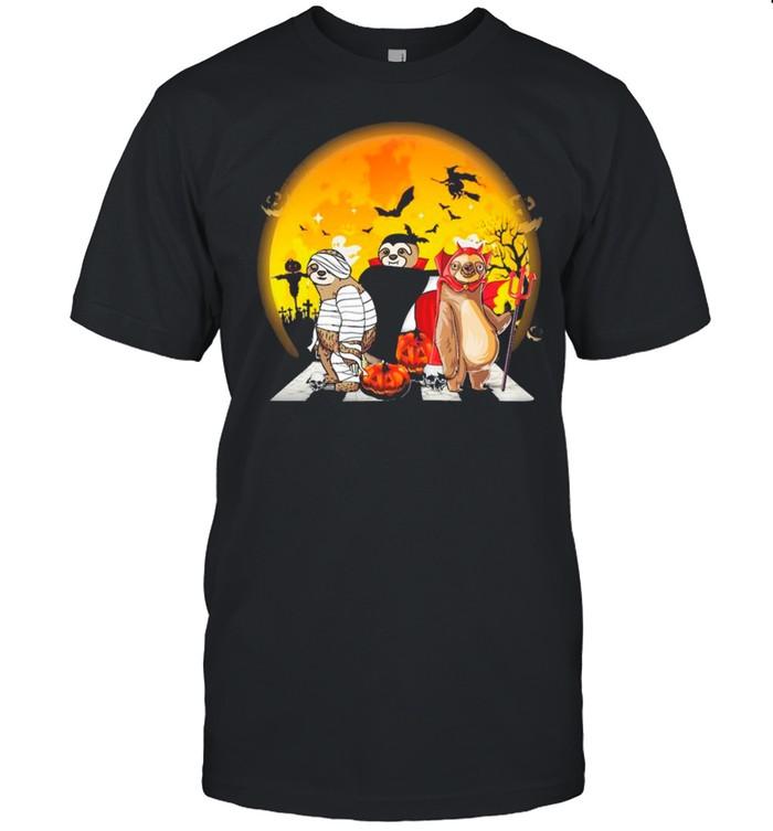 Sloths Walking Happy Halloween 2021  Classic Men's T-shirt