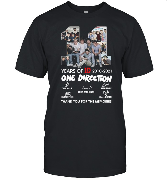 11 years of 1D 2010-2021 One Direction thank you for the memories signatures shirt Classic Men's T-shirt