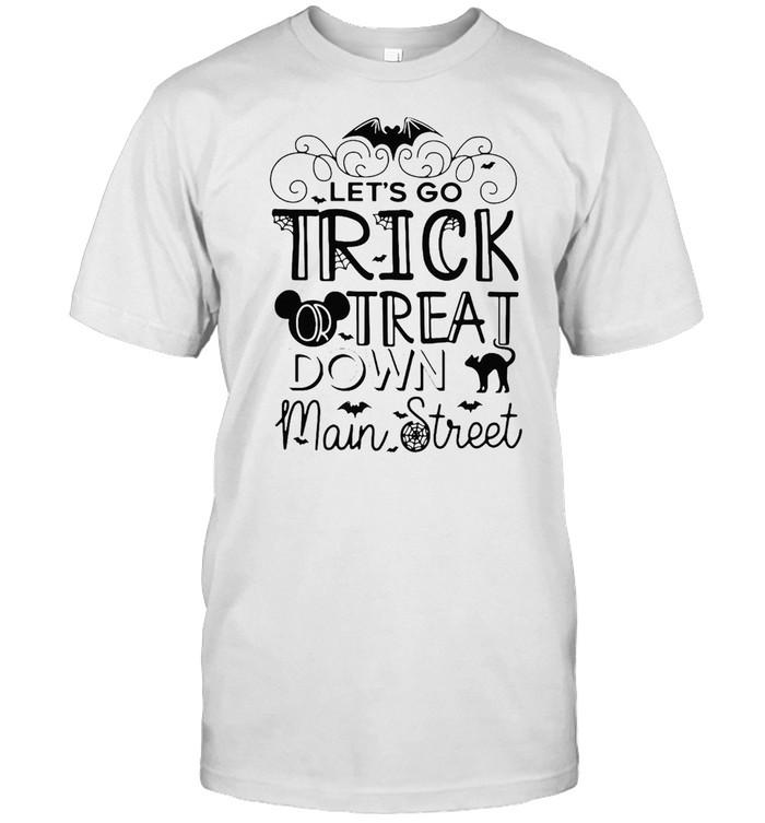 Let's Go Trick Or Treat Down Main Street Halloween T-shirt Classic Men's T-shirt