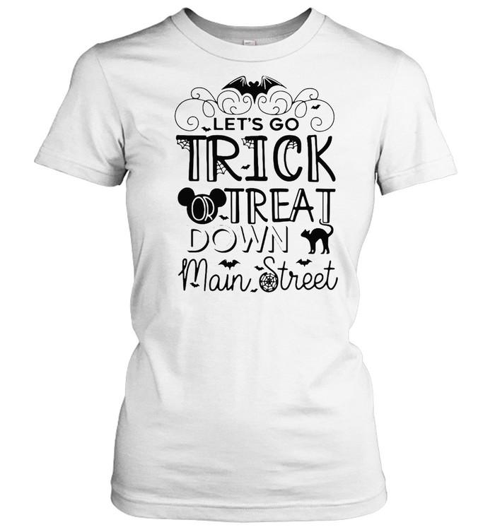 Let's Go Trick Or Treat Down Main Street Halloween T-shirt Classic Women's T-shirt