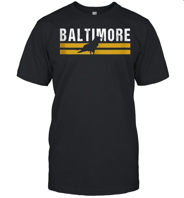 Stripes Native Raven BAl Cool Baltimore MD Vintage Baltimore shirt Classic Men's T-shirt