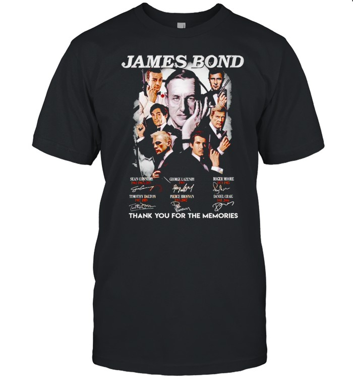 James Bond thank you for the memories signatures shirt Classic Men's T-shirt