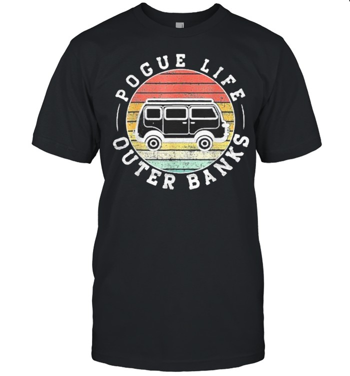 Outer banks pogue life outer banks surf van obx beach shirt Classic Men's T-shirt
