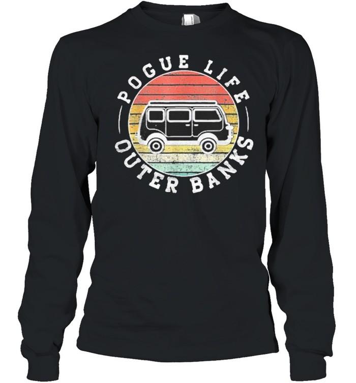 Outer banks pogue life outer banks surf van obx beach shirt Long Sleeved T-shirt