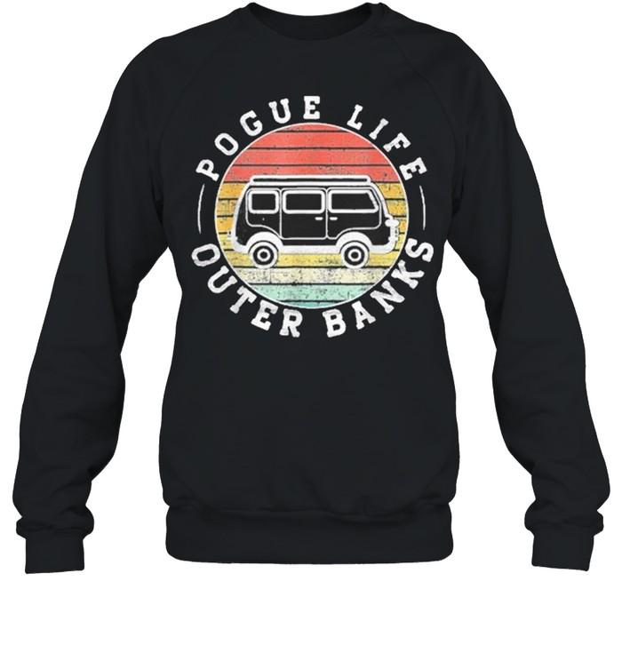 Outer banks pogue life outer banks surf van obx beach shirt Unisex Sweatshirt