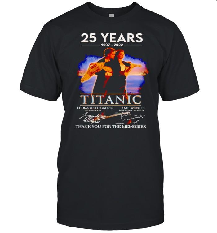 25 years 1997 2022 Titanic thank you for the memories shirt Classic Men's T-shirt