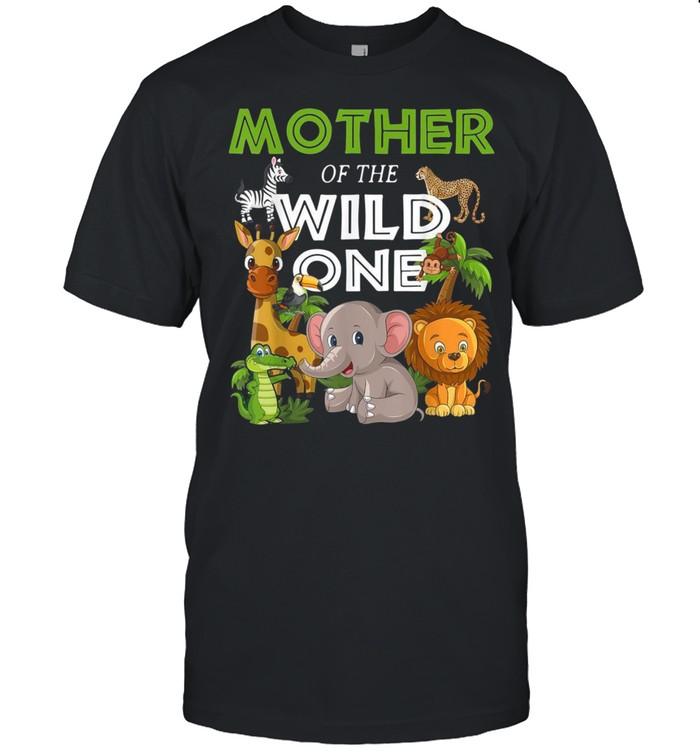 Mother of the Wild One Zoo Birthday Safari Jungle Animal shirt Classic Men's T-shirt