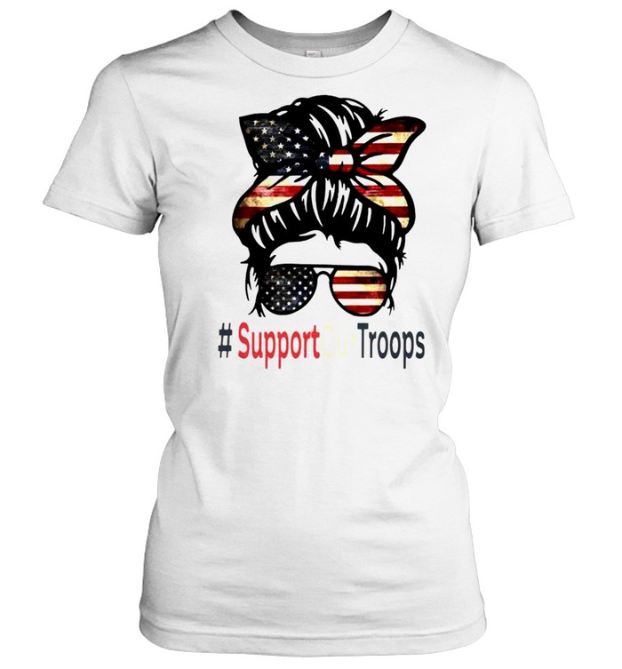 Trump girl support our troops shirt Classic Women's T-shirt