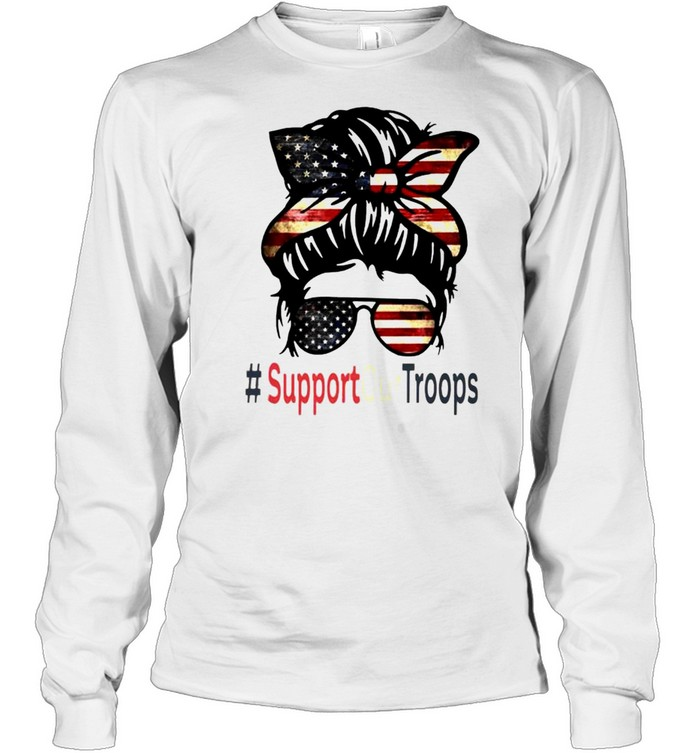 Trump girl support our troops shirt Long Sleeved T-shirt