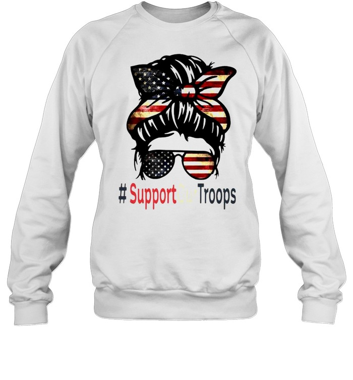 Trump girl support our troops shirt Unisex Sweatshirt