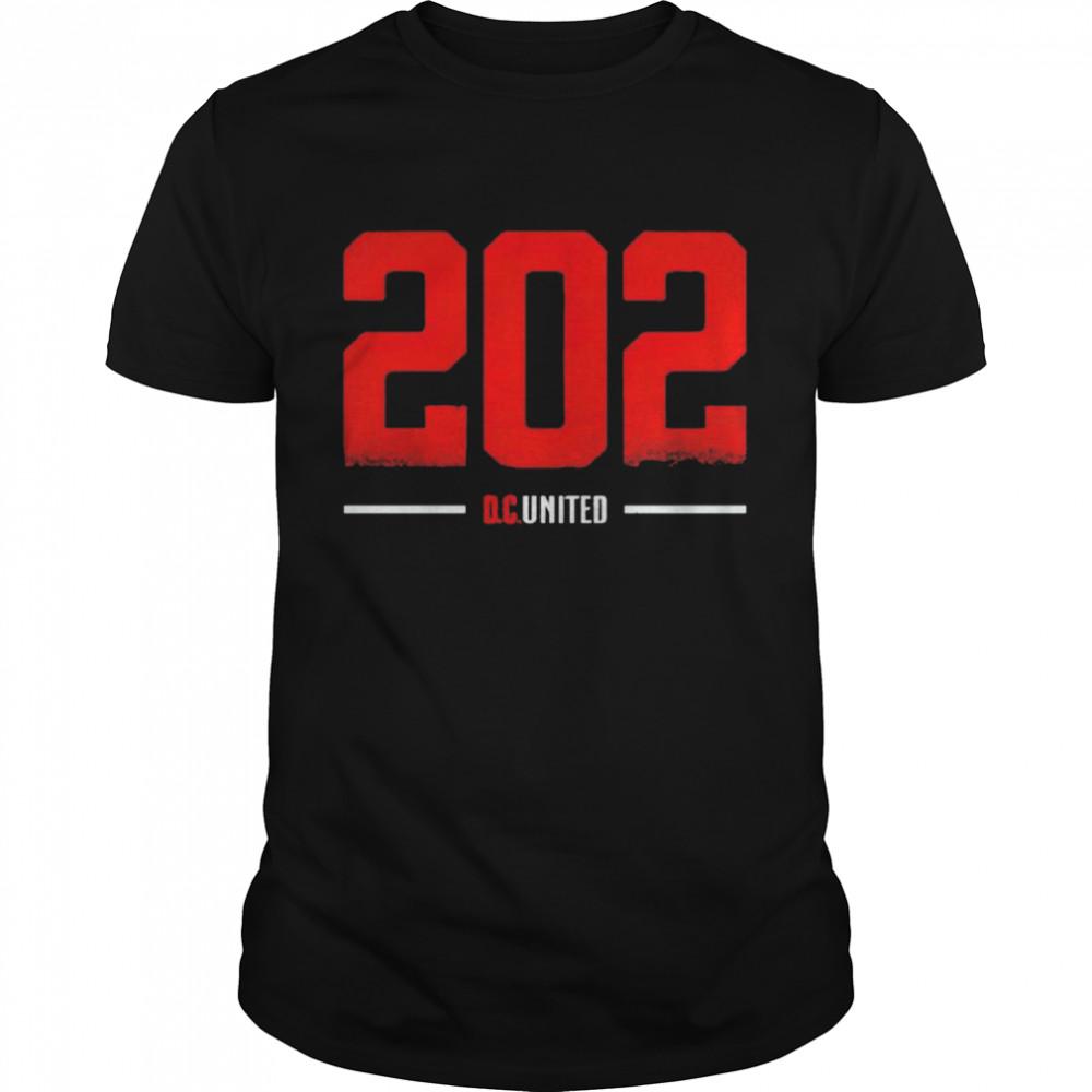 D.C. United 202 Area code shirt