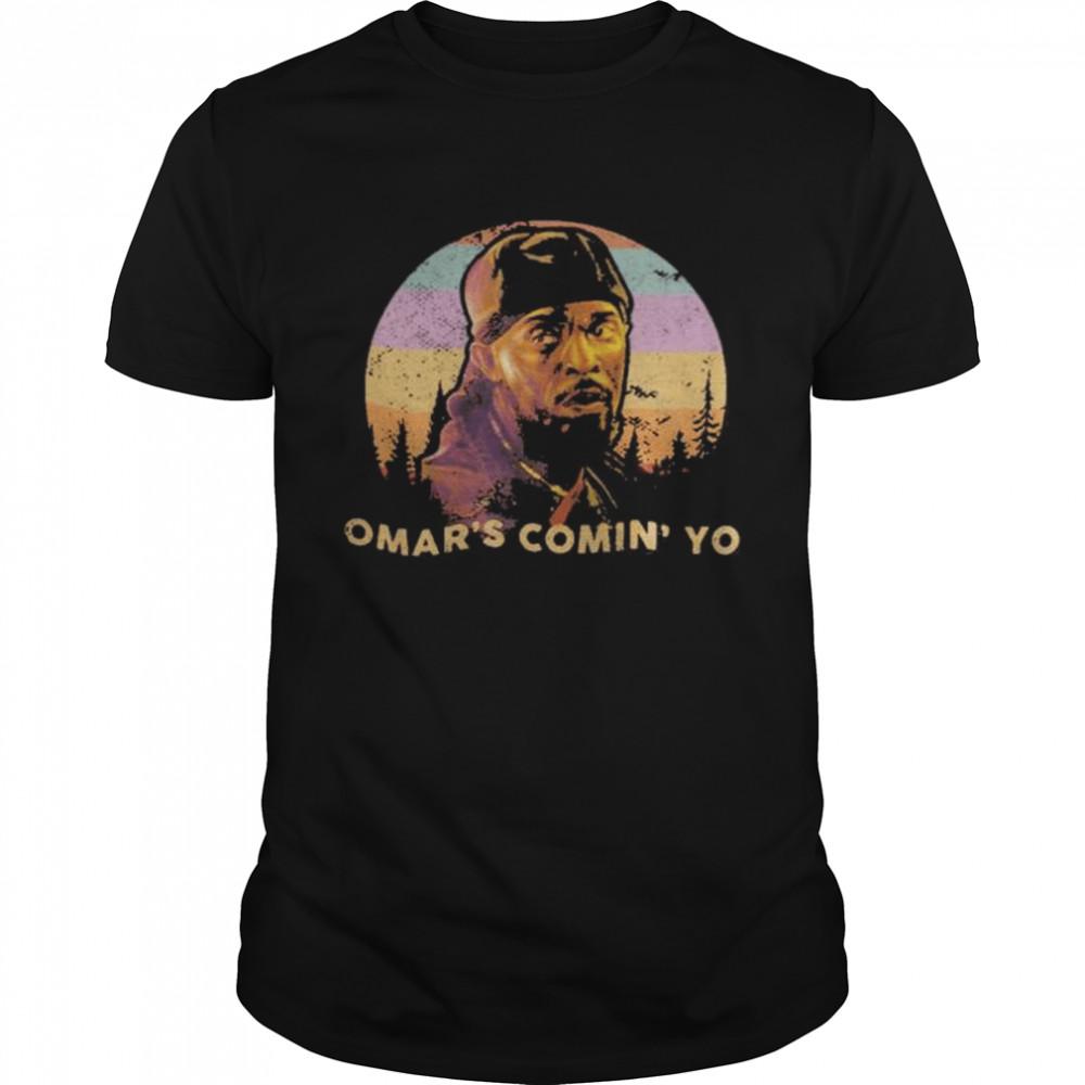 Michael K. Williams Omar's Comin' Yo Tee Shirt
