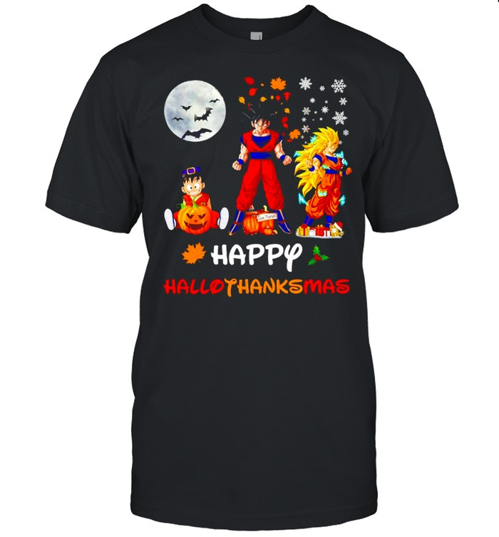 Dragon Ball Charcters Happy Hallothanksmas shirt