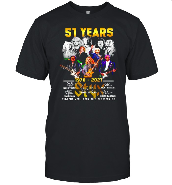51 years 1970 2021 Styx thank you for the memories shirt Classic Men's T-shirt