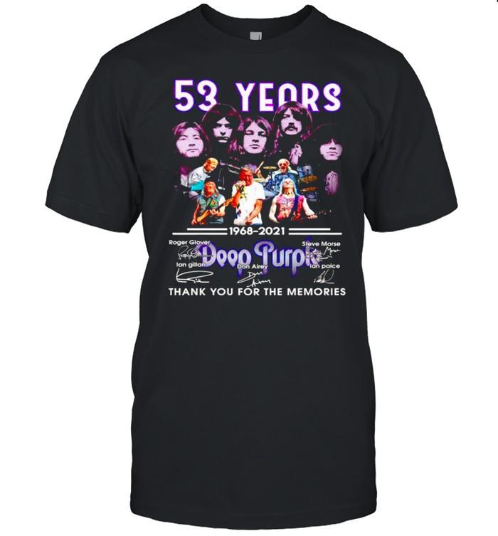 53 years Deep Purple 1968 2021 thank you for the memories shirt Classic Men's T-shirt