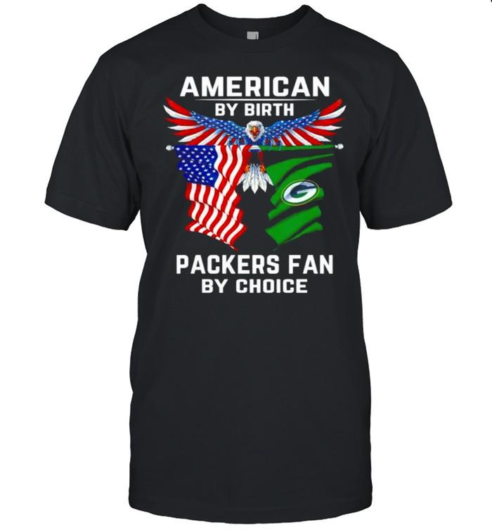 American by birth Packers fan by choice shirt Classic Men's T-shirt