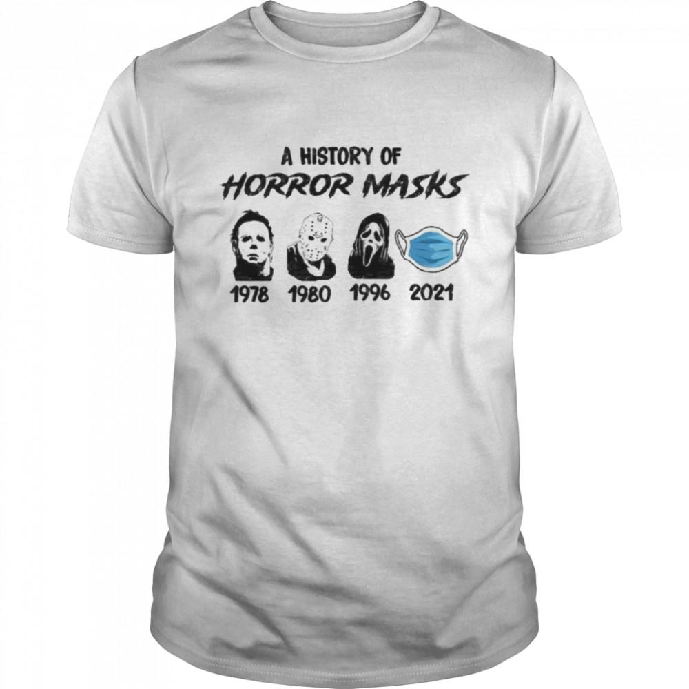 Halloween History Of Horror Masks 2021  Classic Men's T-shirt