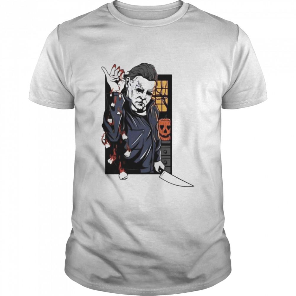 Halloween Michael Myers salt teeth shirt Classic Men's T-shirt