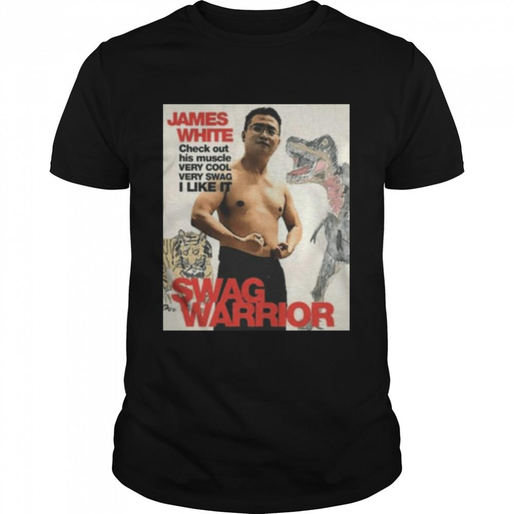 James Cage White swag warrior shirt