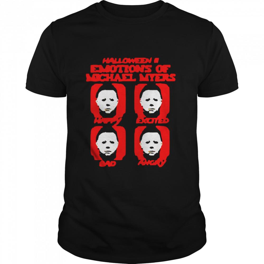 Halloween II Emotions Of Michael Myers T-shirt Classic Men's T-shirt