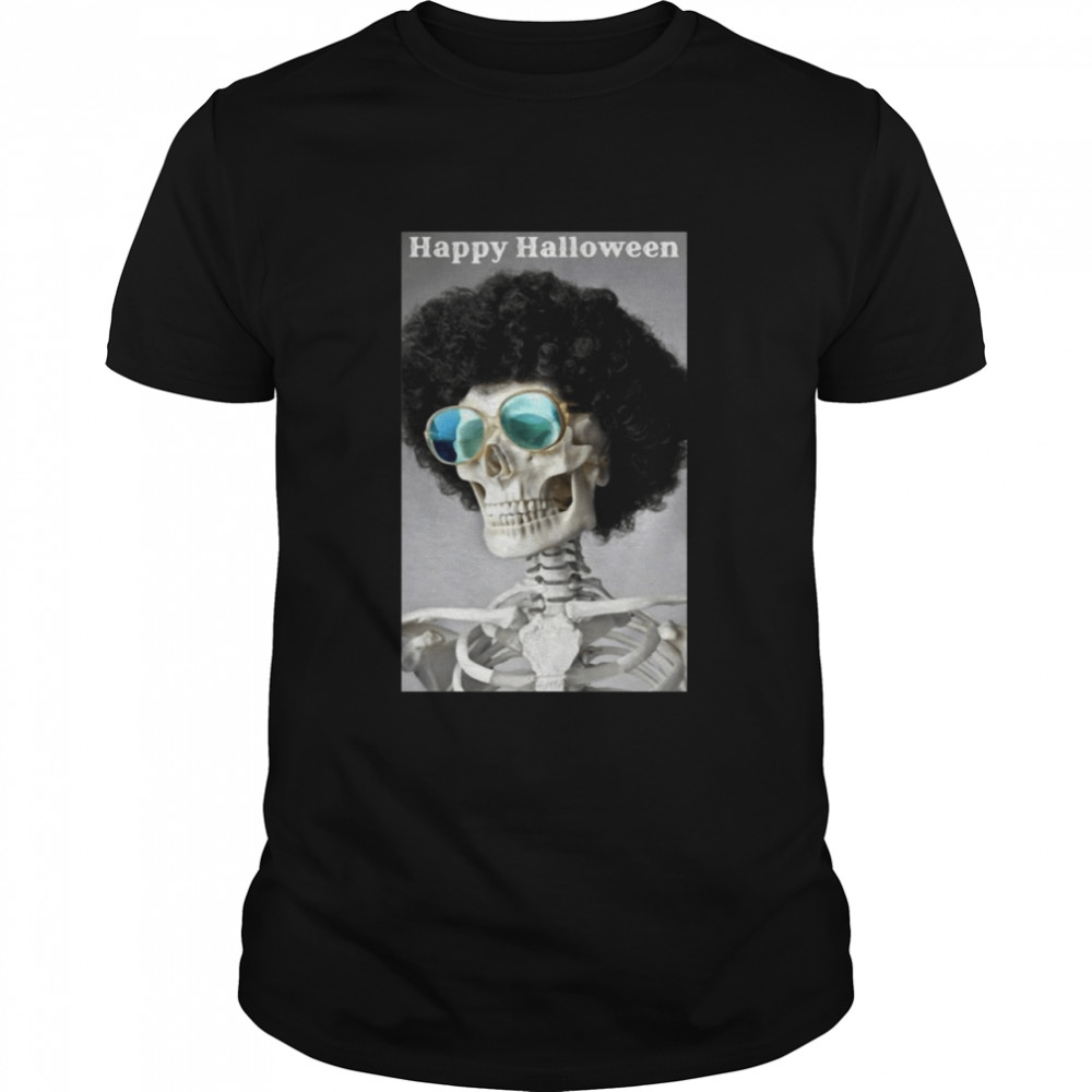 Happy Halloween Addition Skeleton With Sunglasses T-shirt Classic Men's T-shirt