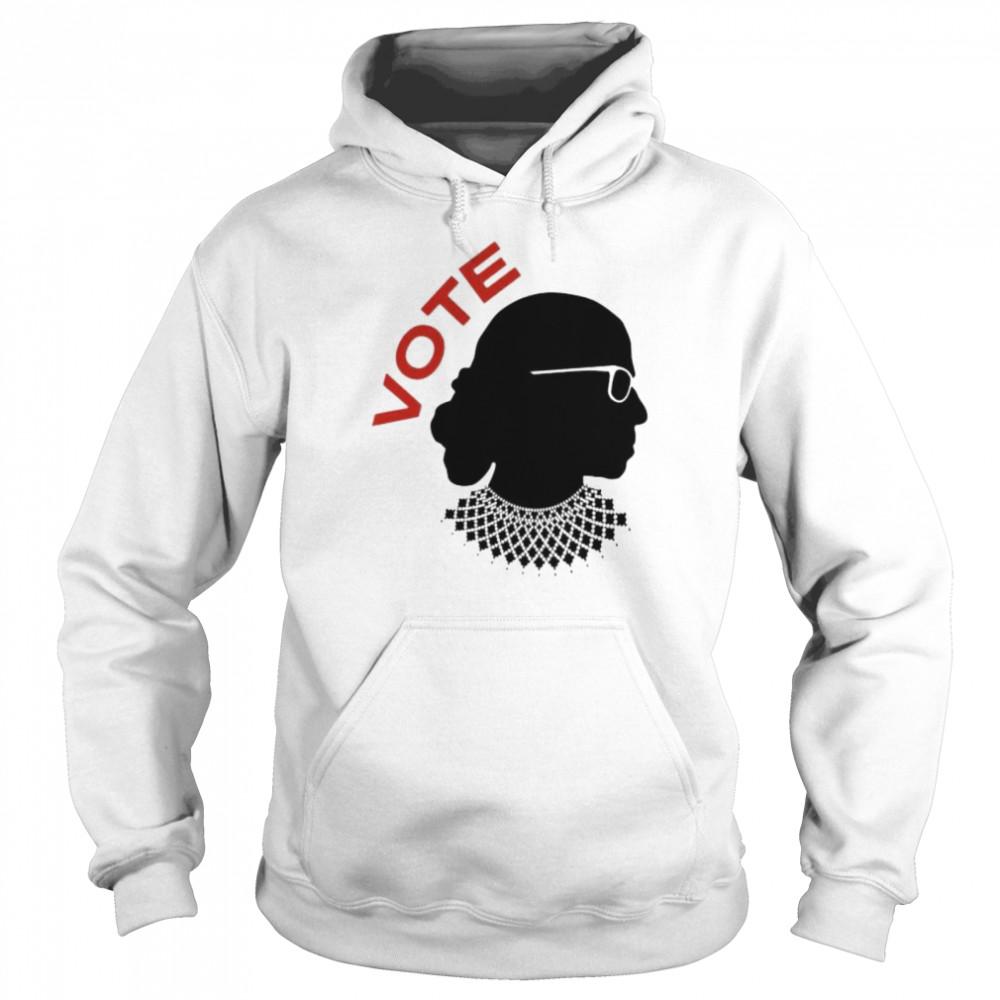 Ruth Bader Ginsburg vote shirt Unisex Hoodie