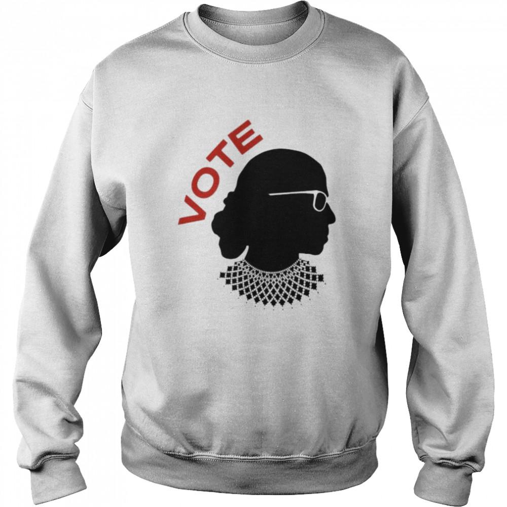 Ruth Bader Ginsburg vote shirt Unisex Sweatshirt