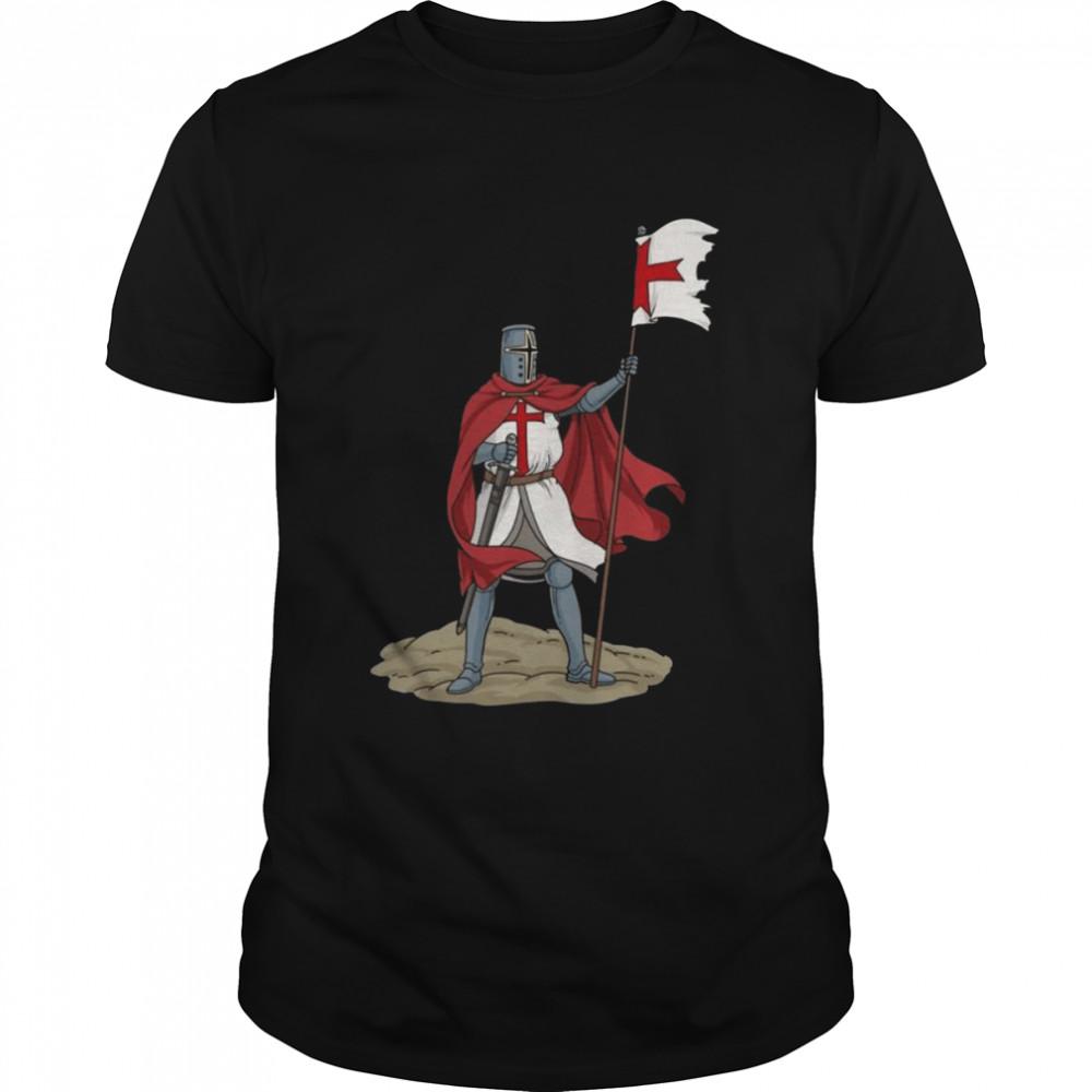 Crusader Knights Templar Sword Shield shirt