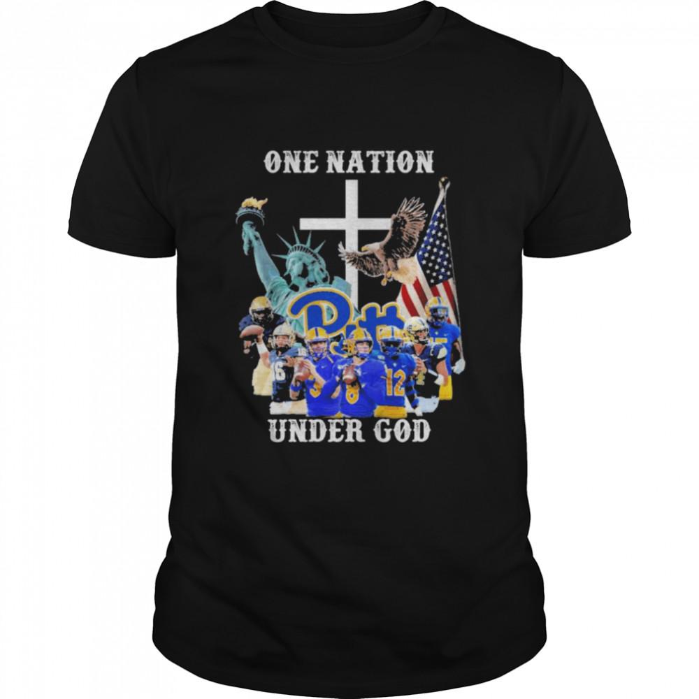 One nation under god Carolina Panthers American flag shirt