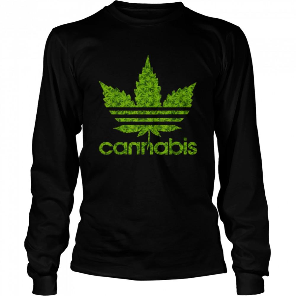 Cannabis Leaf 420 T- Long Sleeved T-shirt