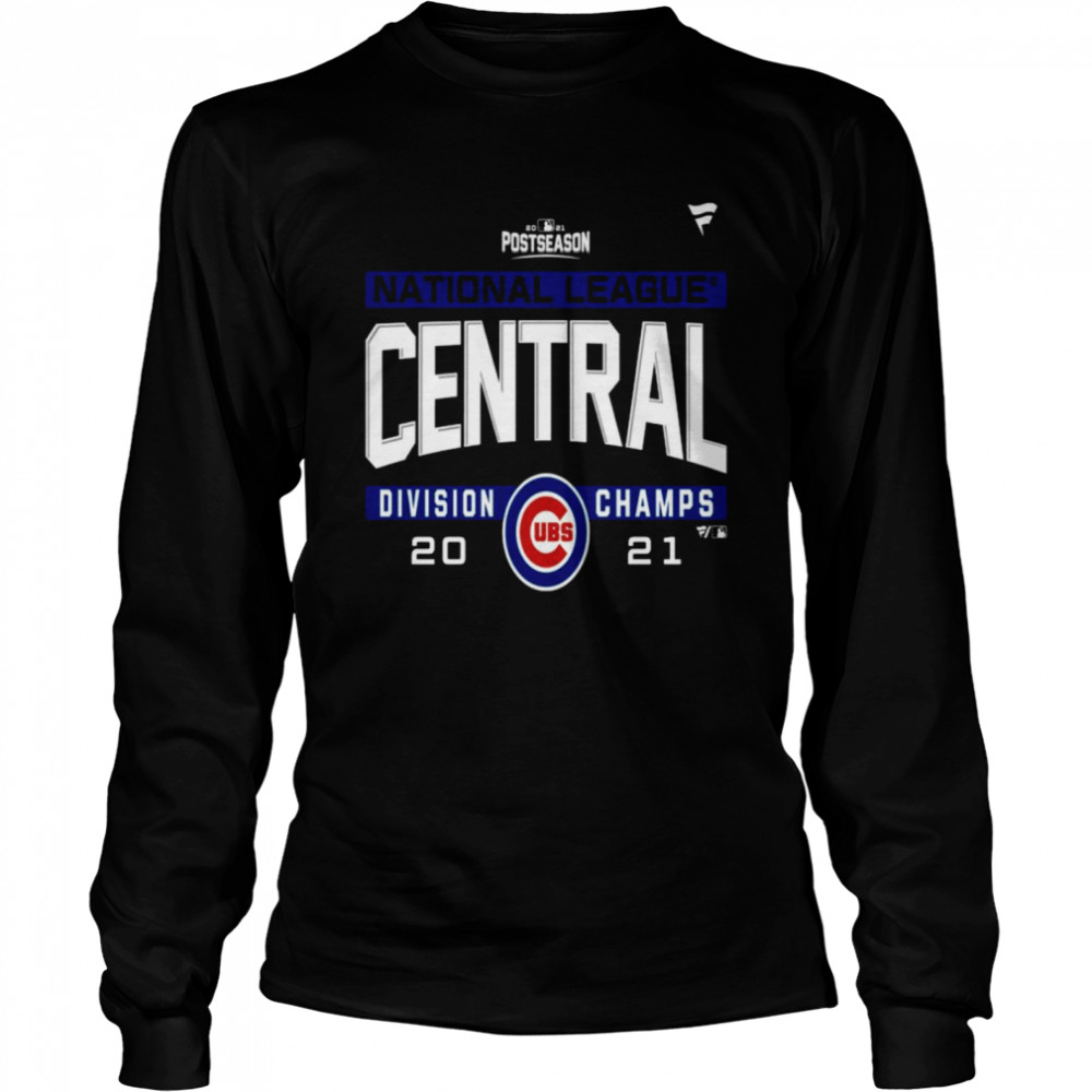 Chicago Cubs National League NL Central Division Champions 2021 sport shirt Long Sleeved T-shirt