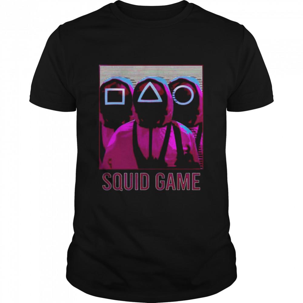 Squid Game Squad Retrowave Active movie shirt